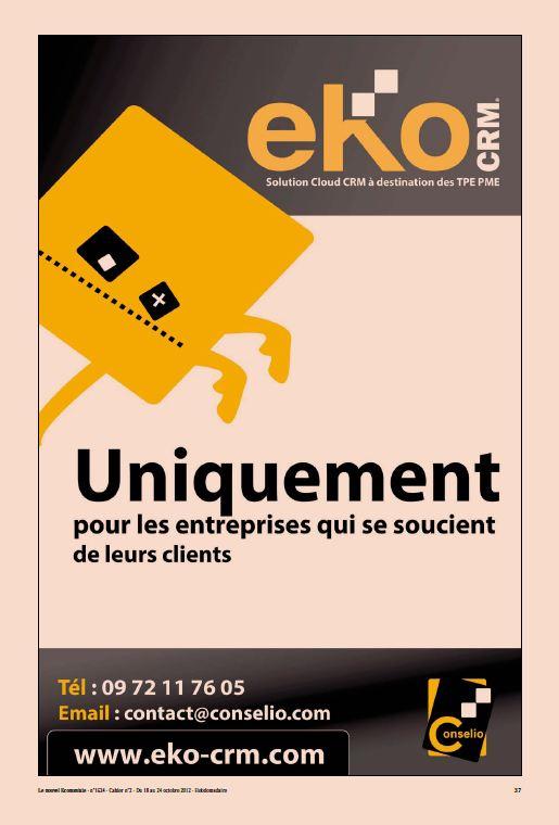 eKo CRM dans les pages du Nouvel Economiste