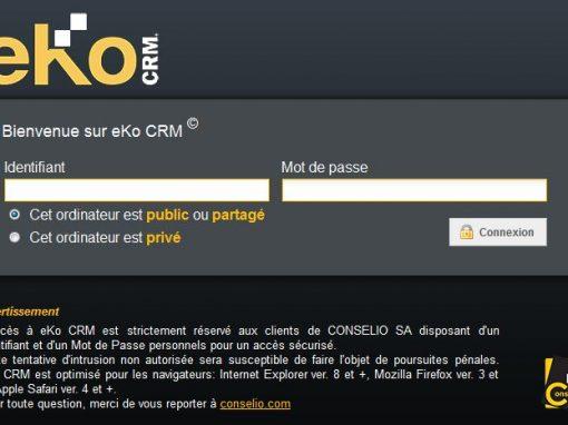 Nouvelles évolutions de eKo CRM…